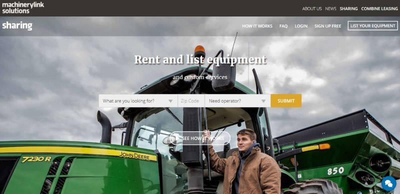 Machinery Link, ejemplo del fenómeno Uber en la agricultura