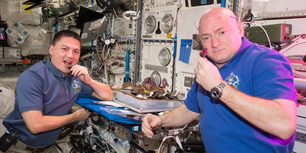 kjell-and-scott-pose-with-lettuce-iss-national-lab