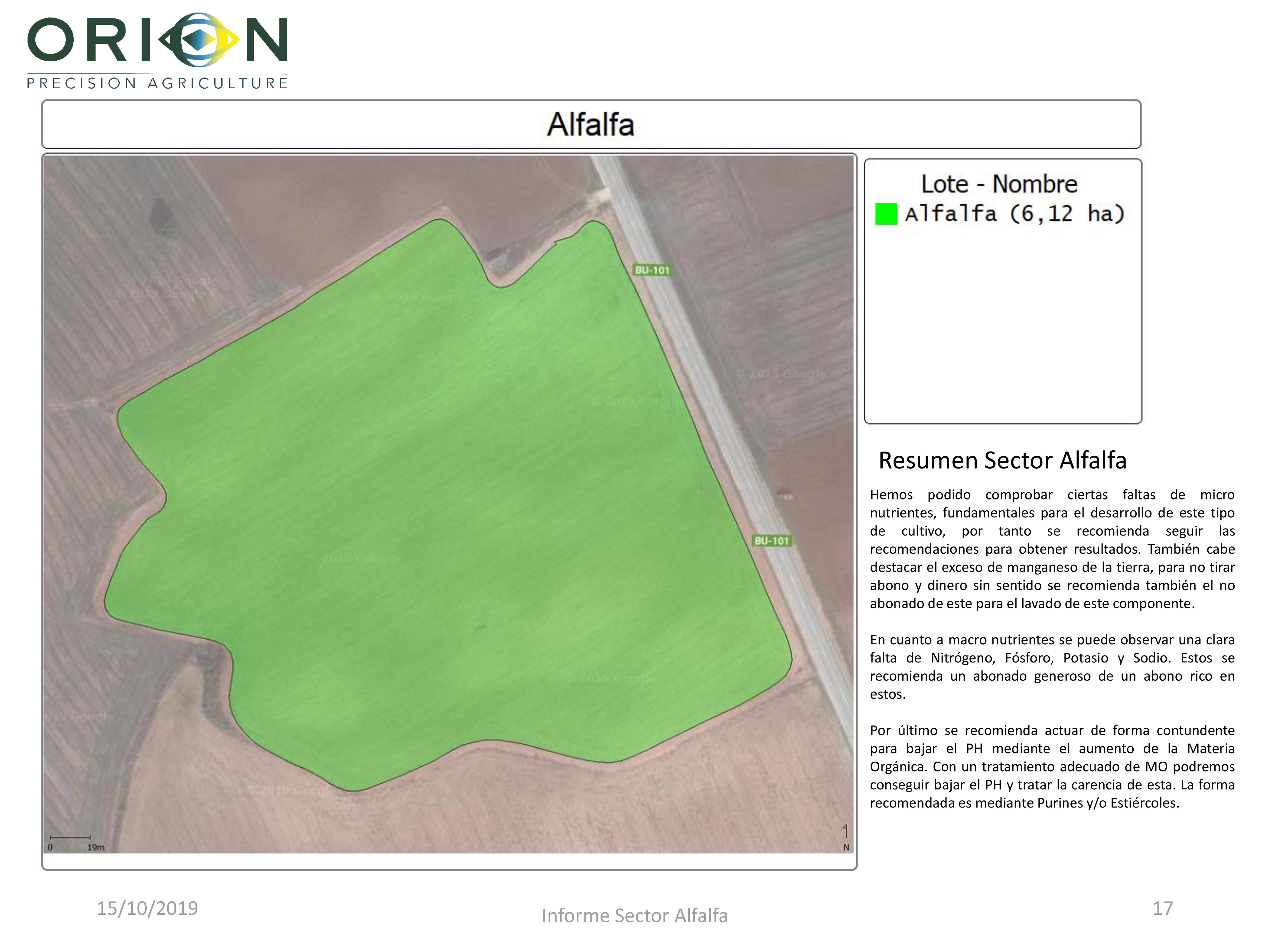 Informe resumen cultivo alfalfa